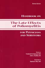 image of cover of handbook on the late effects of poliomyelitis